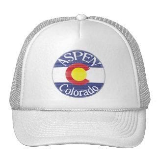 Aspen Colorado circle flag hat