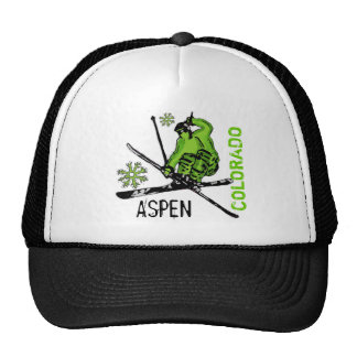 Aspen Colorado green theme skier hat