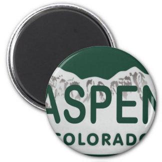 Aspen Colorado license plate 6 Cm Round Magnet