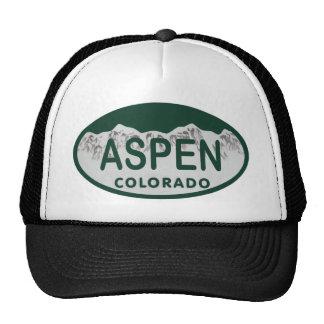 Aspen Colorado license plate Hat