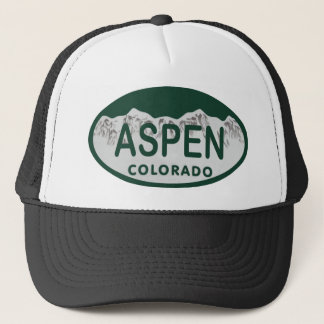 Aspen Colorado license plate Trucker Hat