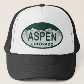 Aspen Colorado license plate Trucker Hat
