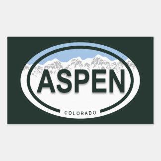 Aspen Colorado Mountain Tag Stickers