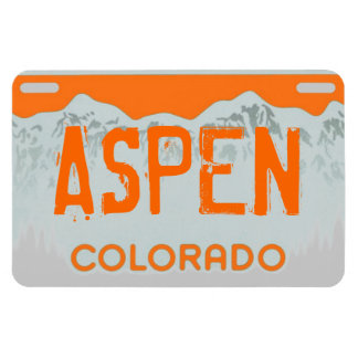 Aspen Colorado orange license plate magnet