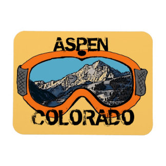 Aspen Colorado orange snow goggles magnet