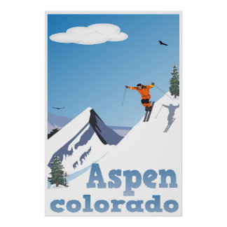 Aspen, Colorado, Rocky Mountain, Ski Poster
