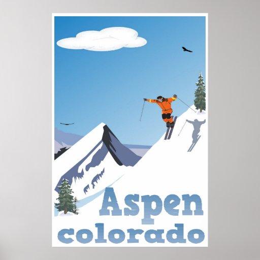 Aspen, Colorado, Rocky Mountain, Ski Poster