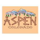 Aspen Colorado rustic tree mountain postcard