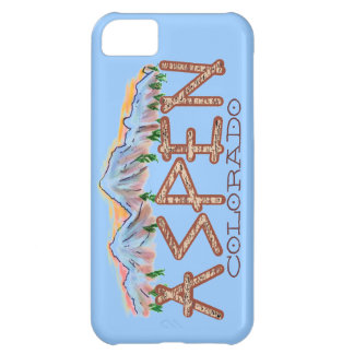 Aspen Colorado rustic tree mountains iphone 5 case