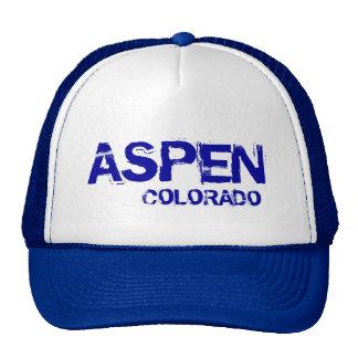 Aspen Colorado simple blue hat