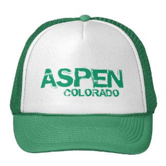 Aspen Colorado simple green hat