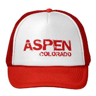 Aspen Colorado simple red hat