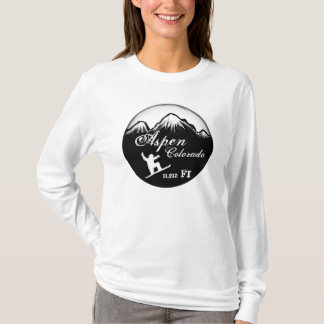 Aspen Colorado snowboard art elevation hoodie