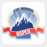 Aspen, Colorado Square Stickers