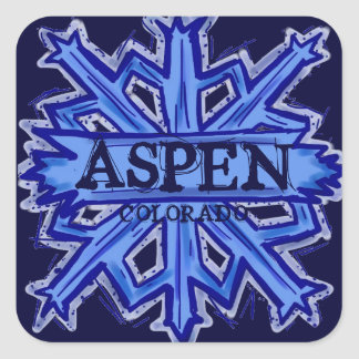 Aspen Colorado winter snowflake stickers