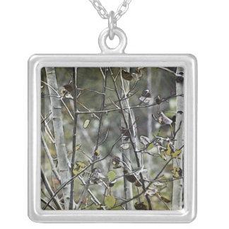 Aspen Forest Square Pendant Necklace