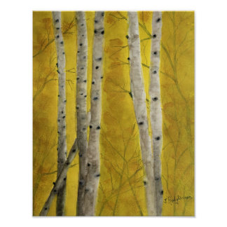 ASPEN FOREST WATERCOLOR POSTER