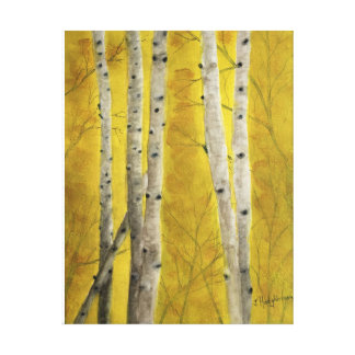 ASPEN FOREST - watercolor, wrapped canvas print