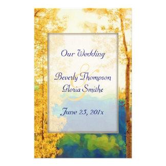 Aspen Glow WEDDING Program 14 Cm X 21.5 Cm Flyer