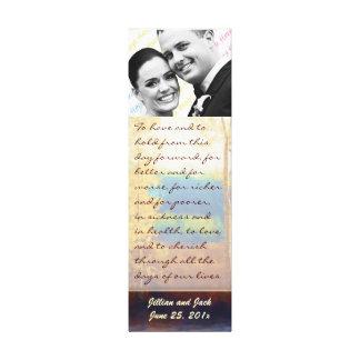 Aspen Glow WEDDING Vows Display Canvas Prints