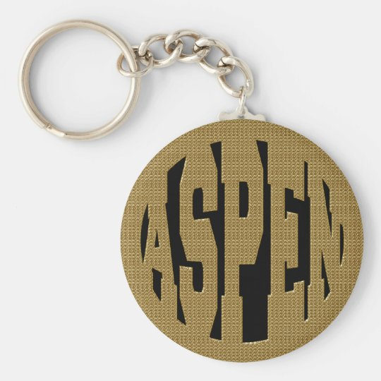 ASPEN - GOLD KEY RING