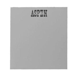 Aspen Grey Notepad