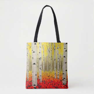 Aspen Grove in Fall All-Over-Print Tote