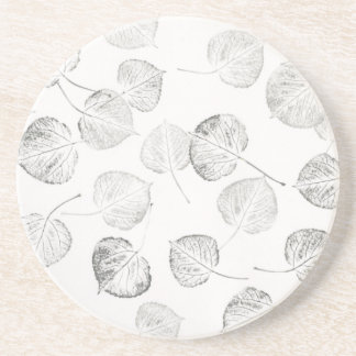 Aspen Leaf Prints Coaster