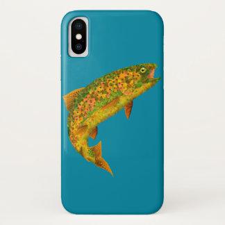 Aspen Leaf Rainbow Trout 2 iPhone X Case