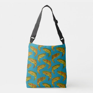 Aspen Leaf Rainbow Trout Seamless Pattern 2018 Crossbody Bag