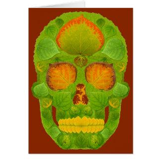 Aspen Leaf Skull 10 Card