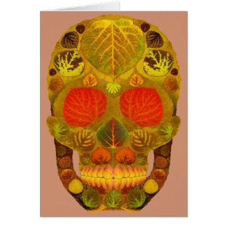 Aspen Leaf Skull 12 Card