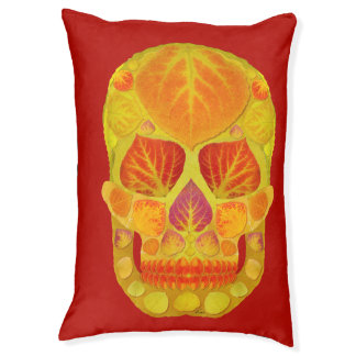 Aspen Leaf Skull 13 Pet Bed