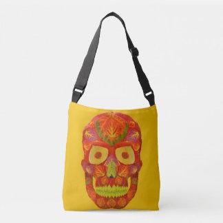 Aspen Leaf Skull 16 Crossbody Bag