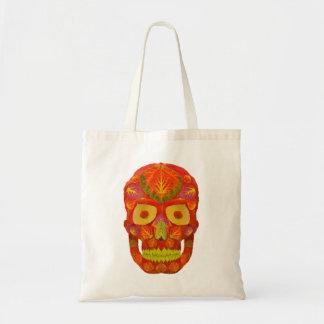 Aspen Leaf Skull 16 Tote Bag
