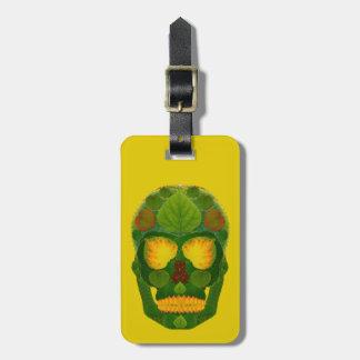 Aspen Leaf Skull 9 Luggage Tag