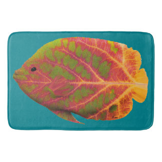 Aspen Leaf Tropical Fish 1 Bath Mat