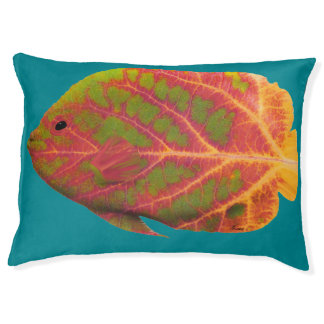Aspen Leaf Tropical Fish 1 Pet Bed