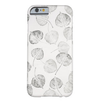 Aspen Leaves Black and White Barely There iPhone 6 Case