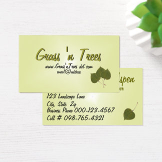 Aspen Leaves Business Card