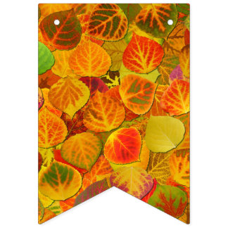 Aspen Leaves Collage Solid Medley 1 Bunting