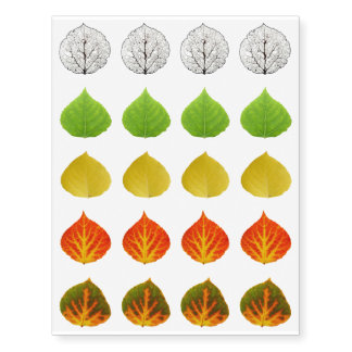 Aspen Leaves collage solid medley seamless 1