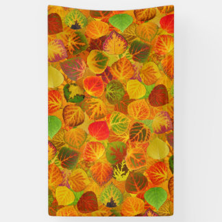 Aspen Leaves Collage Solid Medley Seamless 1 Banner