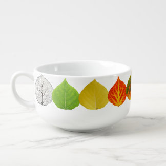 Aspen Leaves Medley Soup Mug