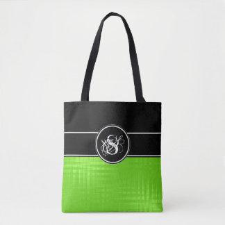 Aspen Lime Monogram Tote Bag