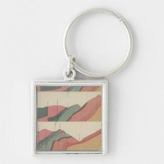 Aspen Mountain Sheet 2 Silver-Colored Square Key Ring