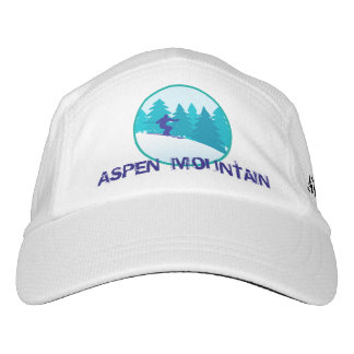 Aspen Mountain Teal Ski Personalized Hat
