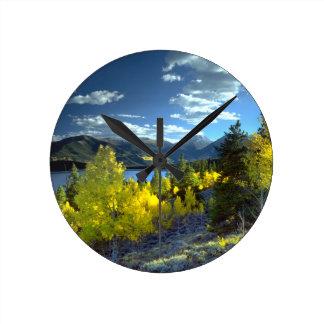 Aspen Round Clock