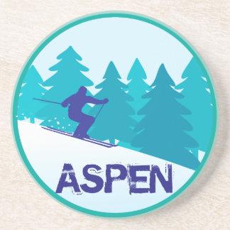 Aspen Ski Circle Coaster