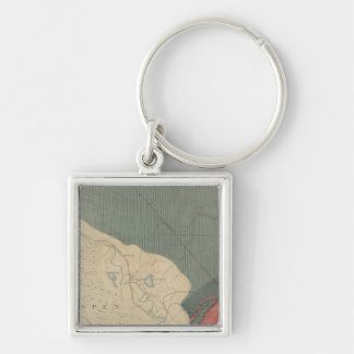 Aspen Special 2 Silver-Colored Square Key Ring